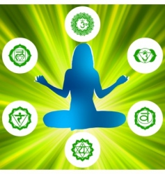 Chakras and spirituality symbols vector