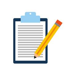 Checklist order with pencil delivery service vector