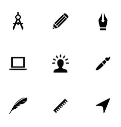 Design 9 icons set vector