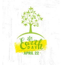 earth day eco green poster design organic vector image
