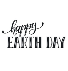 Earth day wording vector image vector image