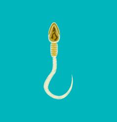 flat shading style icon spermatozoon vector image vector image