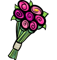 flowers clip art cartoon vector image