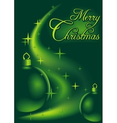 Green Christmas Abstraction vector image vector image