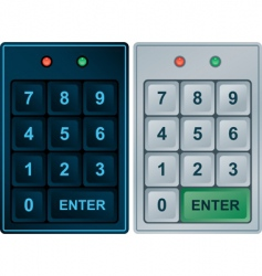 Keypad entry vector