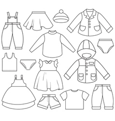 Kids clothing vector