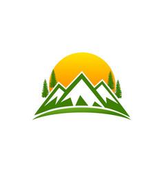 Montain logo design vector