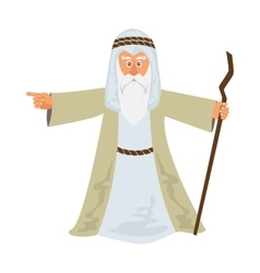 Moses standing for Passover vector image vector image