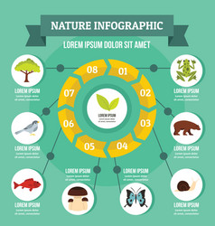 Nature infographic concept flat style vector