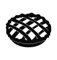 Pie icon black vector image