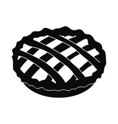Pie icon black vector
