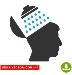 Propaganda brain shower eps icon vector
