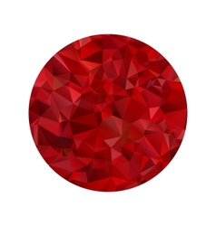 Red polygonal sphere vector