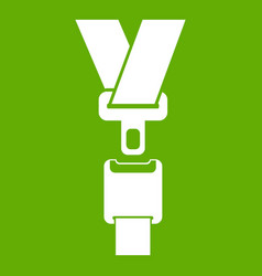 safety belt icon green vector image