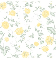 Seamless texture of pastel yellow roses for vector image