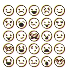 Set of emoticons characters icons vector image vector image