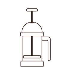 Silhouette coffee grinding jarra with crank vector
