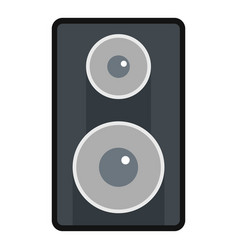 Subwoofer icon isolated vector