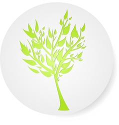 tree round symbol vector image vector image