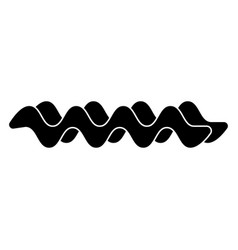 wave the black color icon vector image