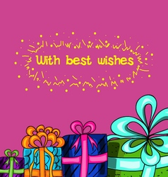 With best wishes vector
