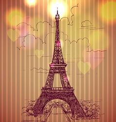 World famous landmark series eiffel tower paris vector