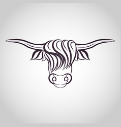 Yak logo icon vector
