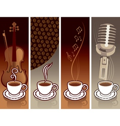Coffee and music vector