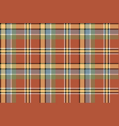 brown yellow check plaid pixeled seamless texture vector image