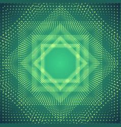 Infinite polygonal tunnel of shining vector