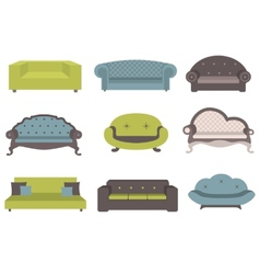Sets of colorful sofa furniture for an int vector