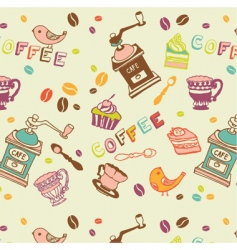 Coffee seamless pattern vector