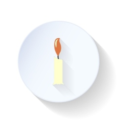 Candle flat icon vector