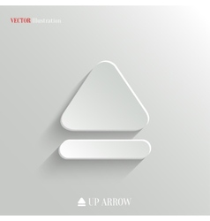 Up arrow icon - white app button vector