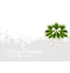 Abstract beauty christmas and new year background vector