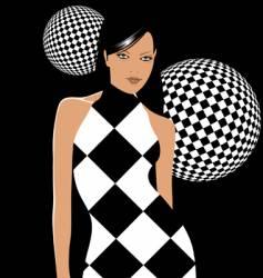 retro party girl vector image