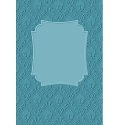 Vintage frame template on damask background vector