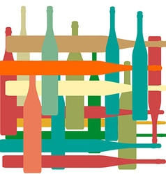 Background with bottles color vector