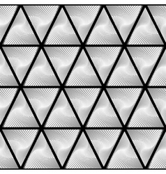 Design seamless monochrome triangle pattern vector