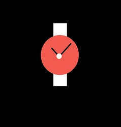 Wristwatch red with white strap vector