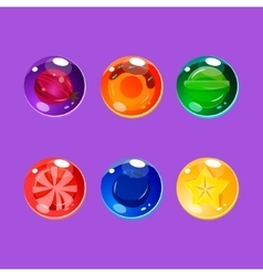 Bright colorful glossy candies with sparkles vector
