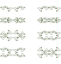 Floral vintage element vector