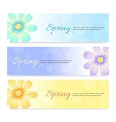 Set of spring banner background vector