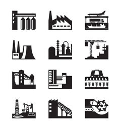 Different industrial plants vector