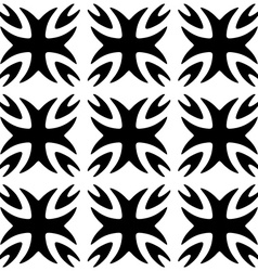 Seamless pattern monochromatic black ornament vector