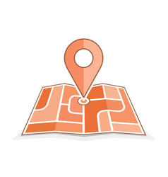 abstract city map with pointer vector image vector image