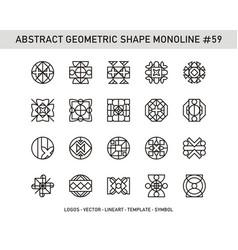 Abstract geometric shape monoline 59 vector