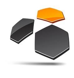 Abstract hexagon symbol vector