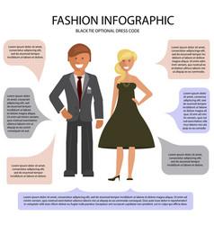Black tie optional dress code vector