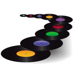 black vinyl discs vector image vector image
